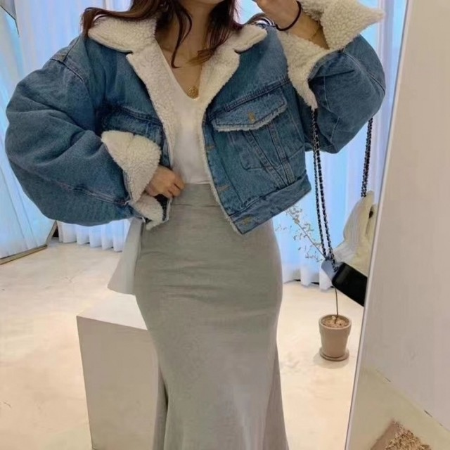 ICIWデニムジャケット デニムジャケット デニムアウター   韓国ファッション