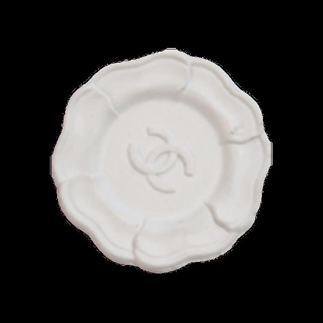【VINTAGE CHANEL BUTTON】カメリア ココマーク ホワイト ボタン 20mm