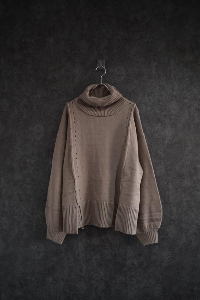 ℃℃℃ turtle design knit brown