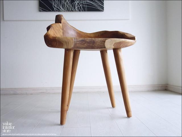総無垢材 プリミティブチークチェアN イス 椅子 新品 ベンチ 木製チェアー 天然木 手作り ナチュラル 素朴 送料無料 銘木家具 一点物