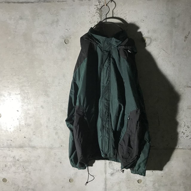 [used]dark green mode nylon jacket