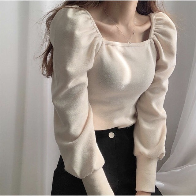 《NO,2》puffsleeveshoulder tops ZR2270