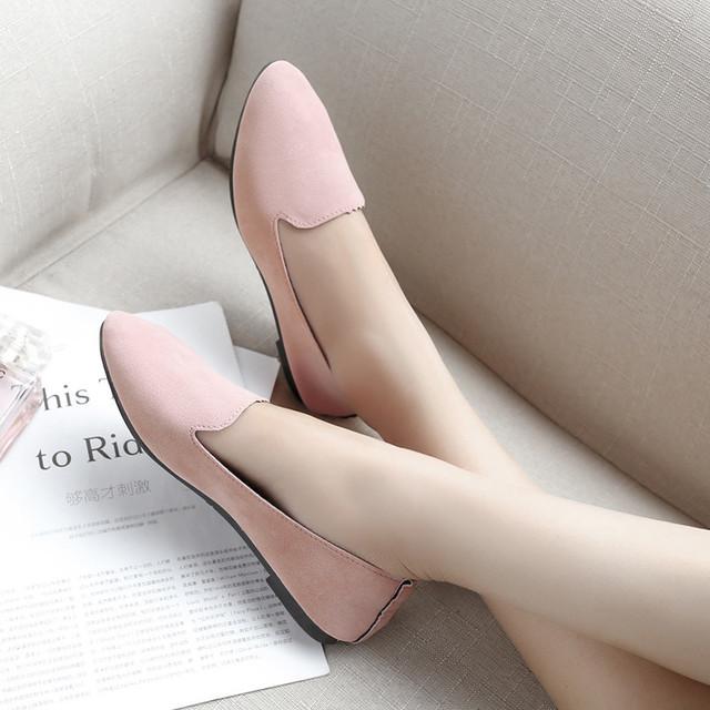 【shoes】ポインテッドトゥ履きやすいフラットシューズ