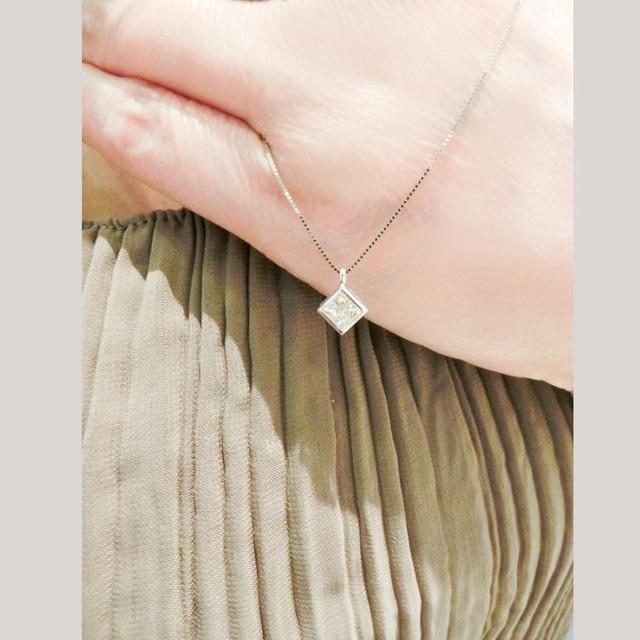 ミステリーセッティング ダイヤモンドペンダント プラチナ