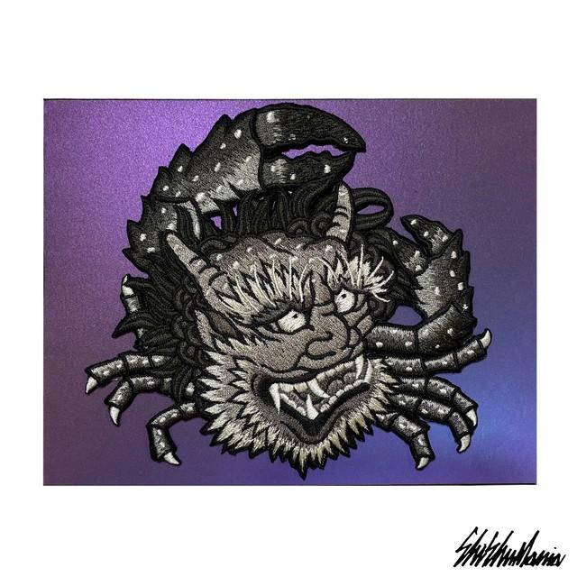 鬼蟹刺繍パネル