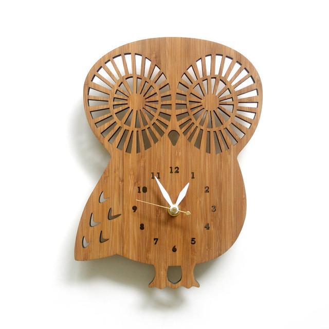 OWL フクロウの掛け時計