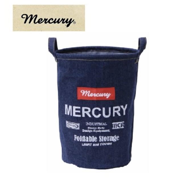 アメリカン雑貨 MERCURY キャンバスバケツ M デニム DUST BOX ダストボックス ゴミ箱 ランドリー 収納- レクタングル