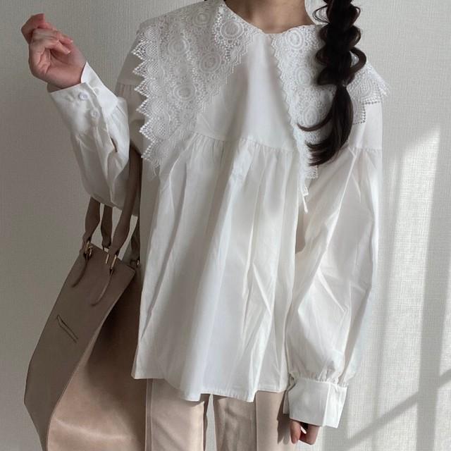 Triangle collar blouse[2012-8]