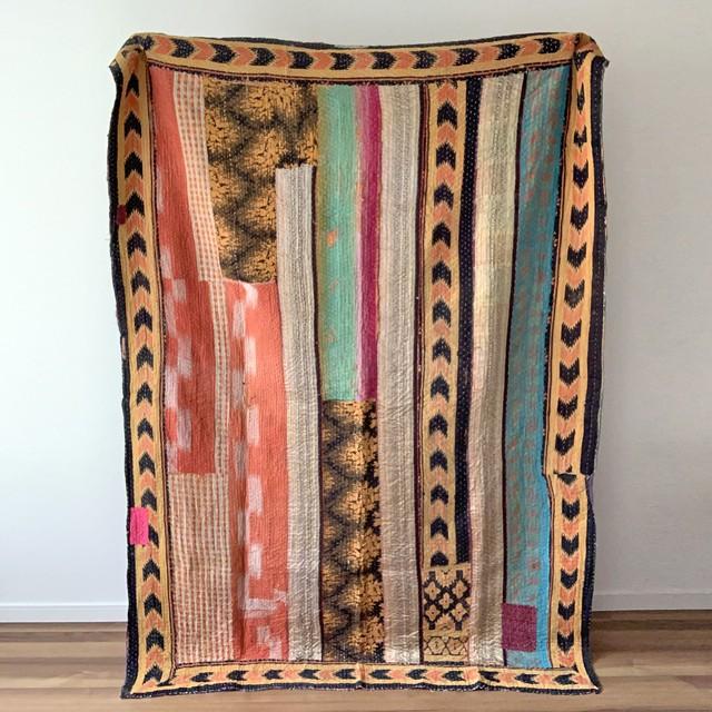大判 ヴィンテージ ラリーキルト アフリカエスニックなデザインに一目惚れ
