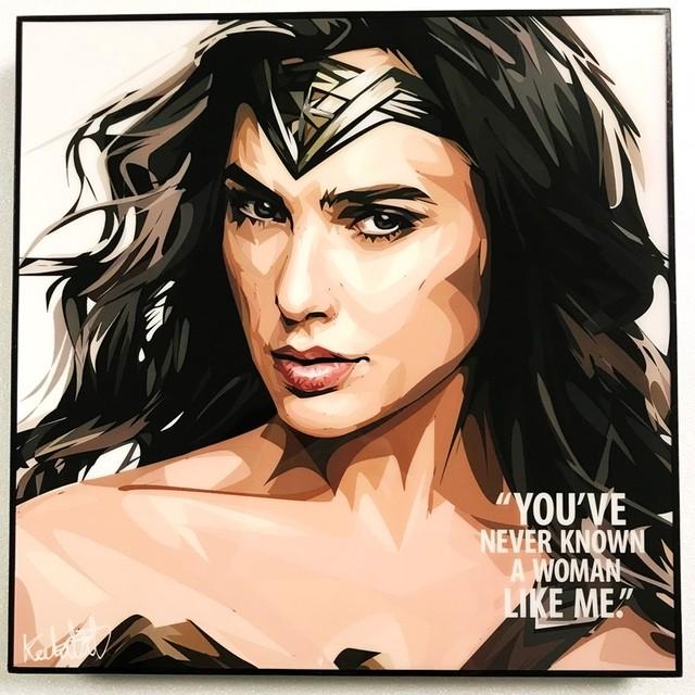 Wonder Woman / ワンダーウーマン「ポップアートパネル Keetatat Sitthiket」ポップアートフレーム ポップアートボード グラフィックアート ウォールアート 絵画 壁立て 壁掛けインテリア 額 ポスター プレゼント ギフト インスタ映え 映画 キータタットシティケット