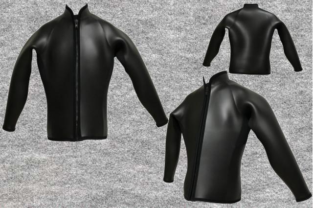 ダイビングフラットスキン6.5mm長袖ジャケット立衿wsm1710FS(フルオーダー料込)