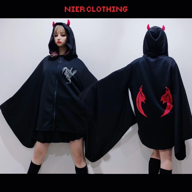 STRETCH着物風袖ZIP OUTER【DEVIL】