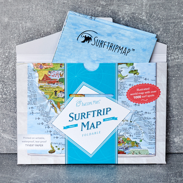 Awesome Maps  - Surftrip Map Foldable -