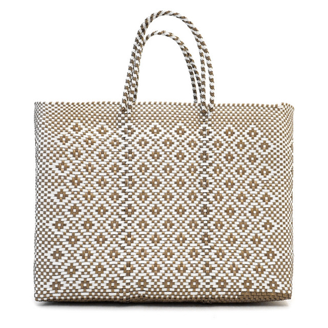 MERCADO BAG ROMBO - White x Gold(L)