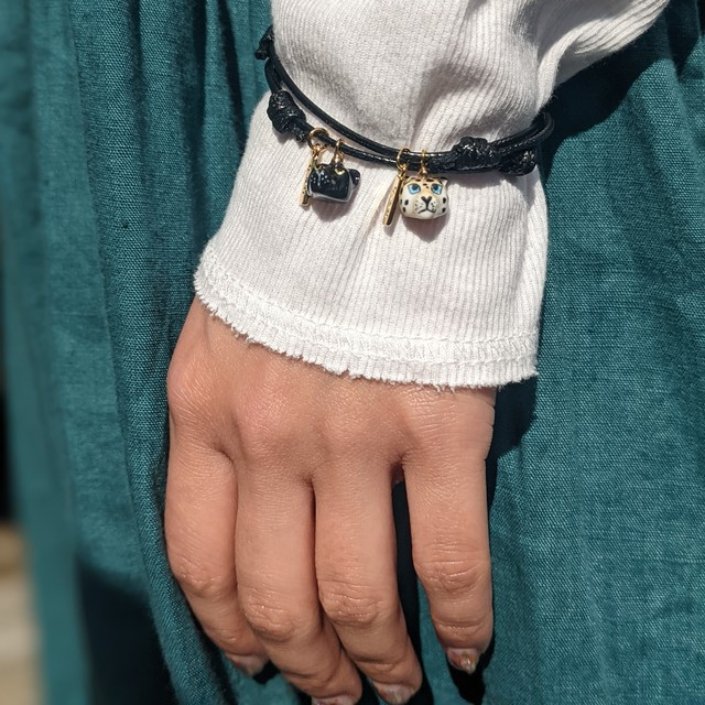 【Nach】 Leopard code bracelet