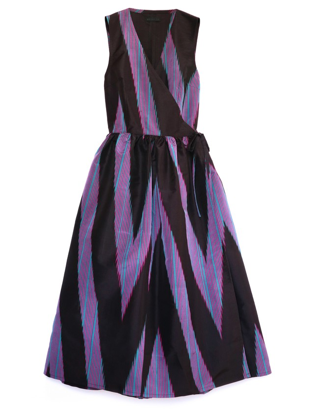 CLAUDIA DRESS - purple lightning