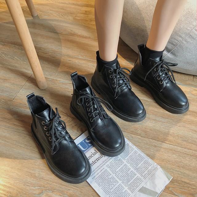【シューズ】丸トゥレトロシンプルファッションショートブーツ26778978