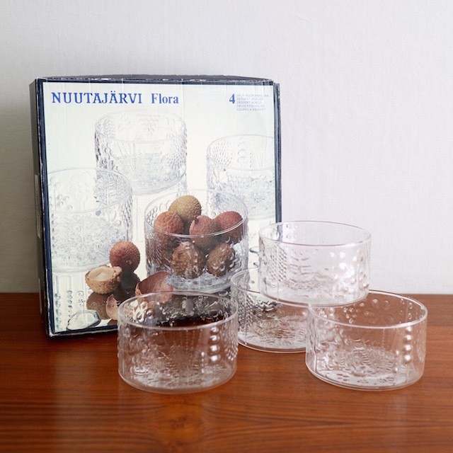 Nuutajarvi Flora Bowl 10cm set of 4