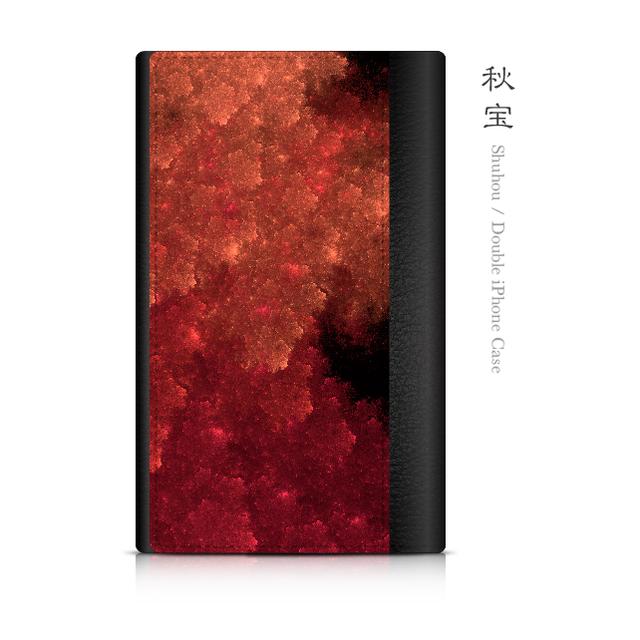 秋宝 - 和風 ダブルiPhoneケース