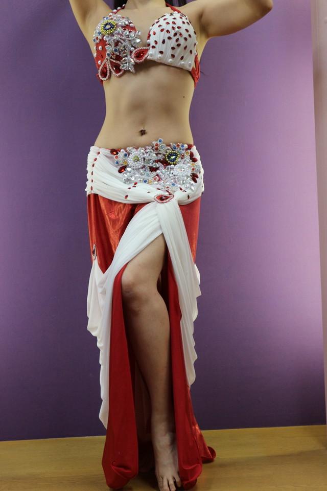 エジプト製 ベリーダンス衣装 トリコロール