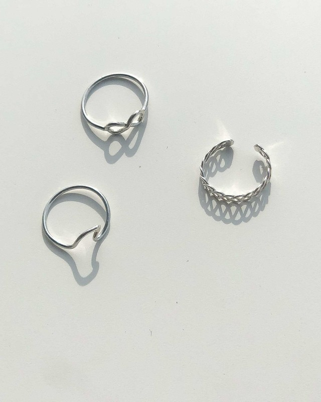 Silver ring 〜3 types〜
