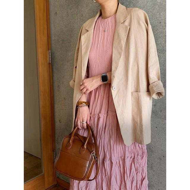 【asyu】linen jacket