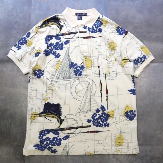 nautica pattern design polo shirt