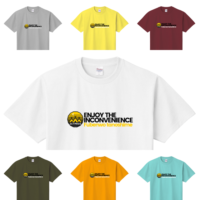 【UNISEX】ACTPROS ENJOY THE INCONVENIENCE 5.6oz ヘビーウェイトTEE【7colors】ACT-202102