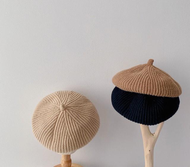 【即納】キッズベレー帽子 秋冬 韓国子供服