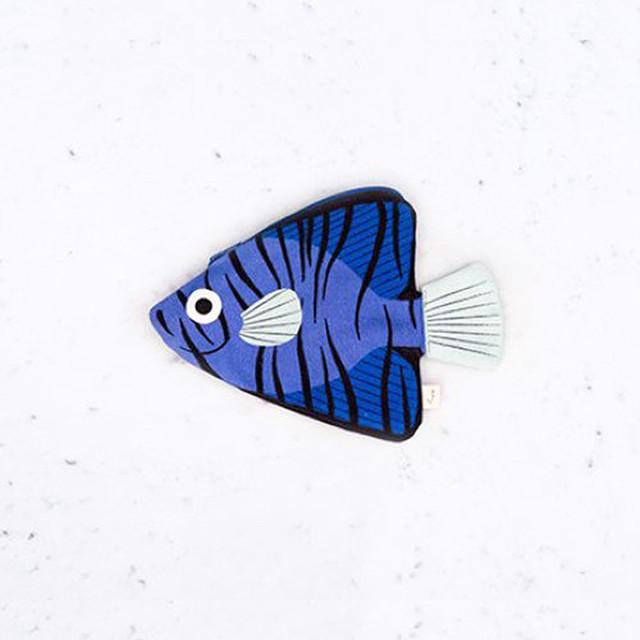 《魚/深海魚》 おさかなポーチ DON FISHER ドンフィッシャーBLUE BATFISH バットフィッシュ オーストラリアの深海魚 スペイン 輸入雑貨 ブルー