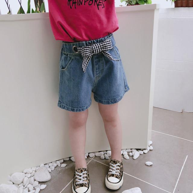 【子供服】組み合わせやすいカジュアルデニムショートパンツ20670195