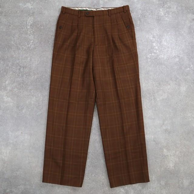 plaid retro design slacks