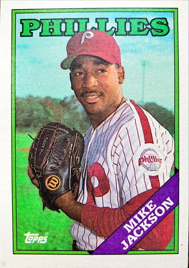 MLBカード 88TOPPS Mike Jackson #651 PHILLIES