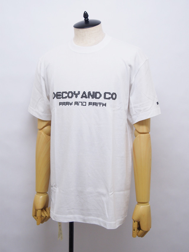 DECOY & CO. (デコイアンドシーオー) PRAY AND FAITH TEE / WHITE D63801-01