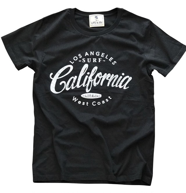 4/17(火)21時発売!LIFE is CALIFORNIA Tシャツ(black×white)¥3000+tax