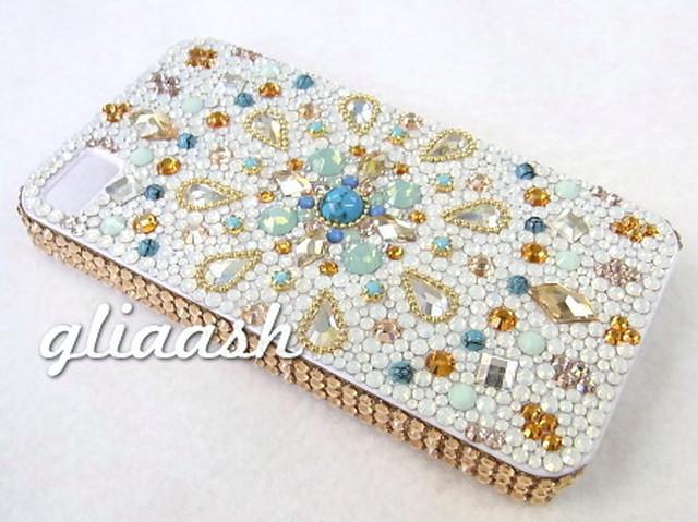 LUMIERE×gliaash ロータス×モロッコ スワロフスキーデコiPhone5カバー