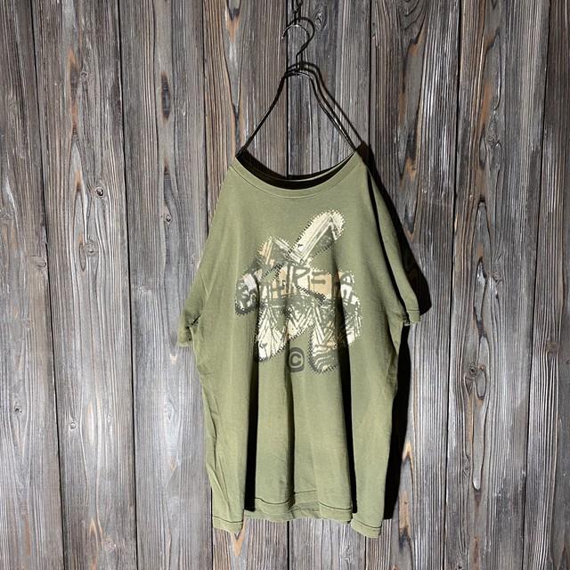 [stussy]graffiti khaki T shirt