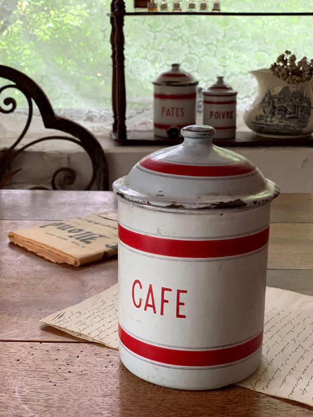 ホーローキャニスター CAFE