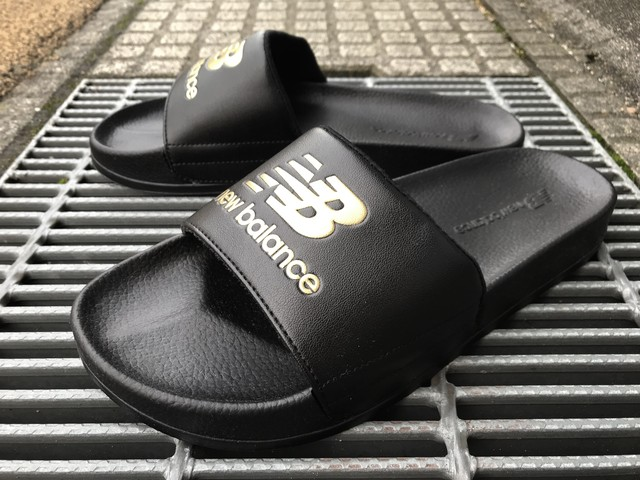 NEW BALANCE SHOWER SANDAL (BLACK/GOLD)