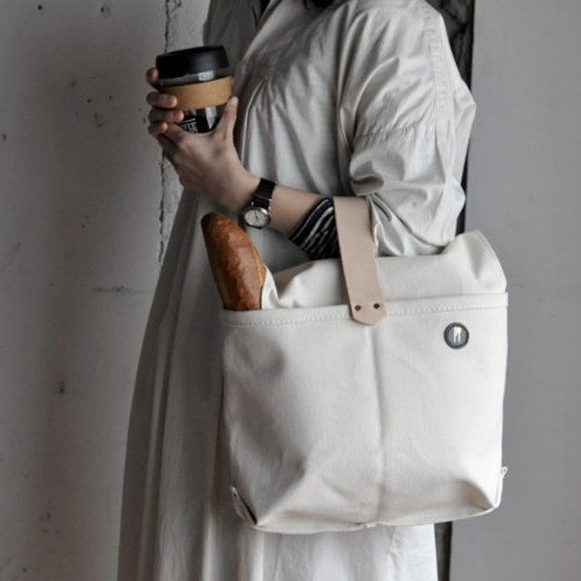 P.T works & design one leather handle bag