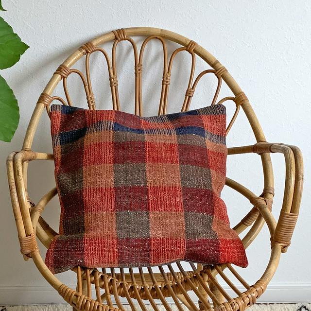 手織り キリム クッション 中 C005