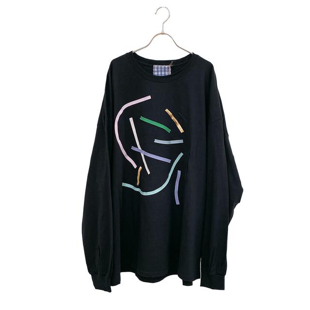 arere / BIG LONG T-SHIRT - BLACK