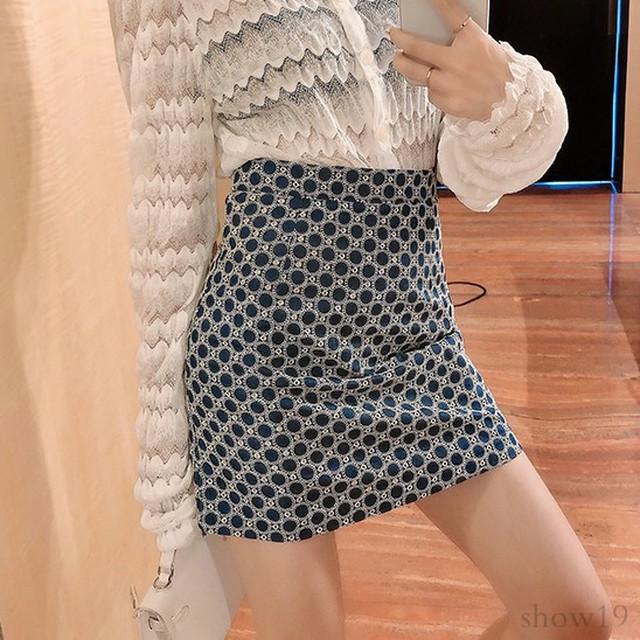【ボトムス】レトロ合わせやすい気質よいスリムワンピースハイウエスト 韓国系スカート31427014