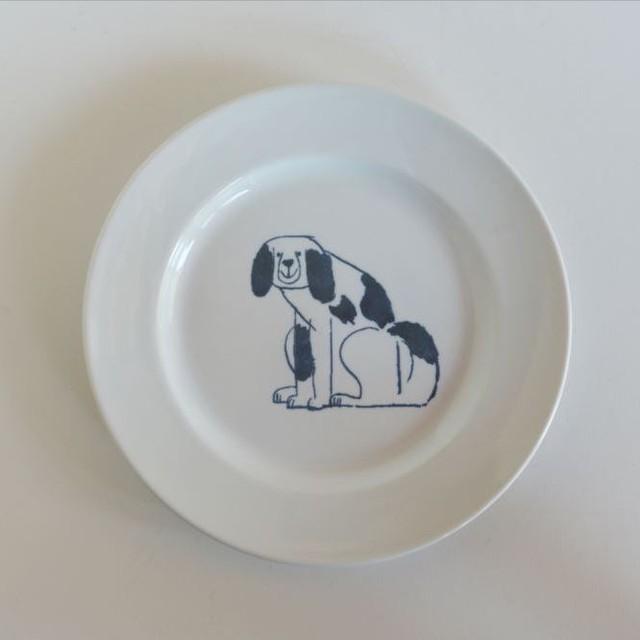 【トラネコボンボン 】犬の丸皿(大)