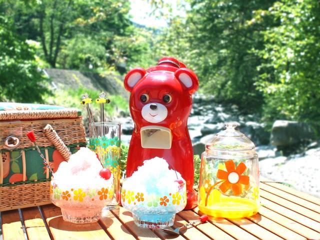 きょろちゃん かき氷機 希少な初期型 (赤) タイガー 昭和レトロ キャンプ ピクニック