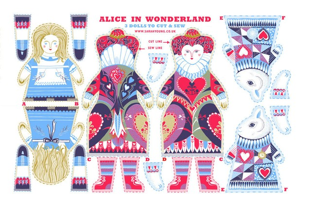 Alice in Wonderland Tea Towel / Cloth Kit
