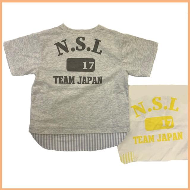 レイヤード風ポケットTシャツ 42405