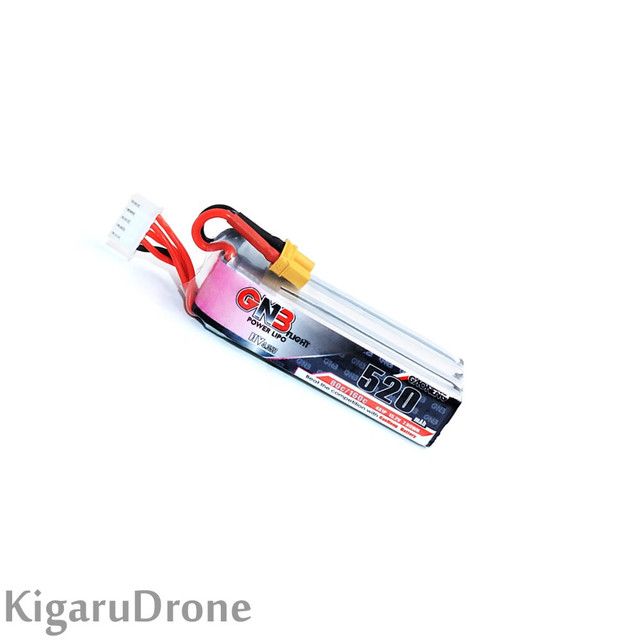 【85X.95X剥きプロ/360go推奨 4S HV 520mAh】GNB 4S 520mAh 11.4v HV 80/160C LiPo Battery with XT30コネクター