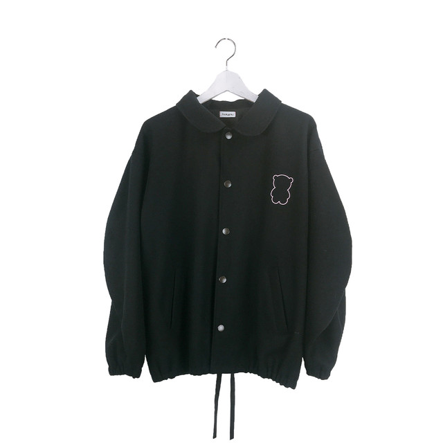 BEAR PRINT MELTON JACKET / S - L