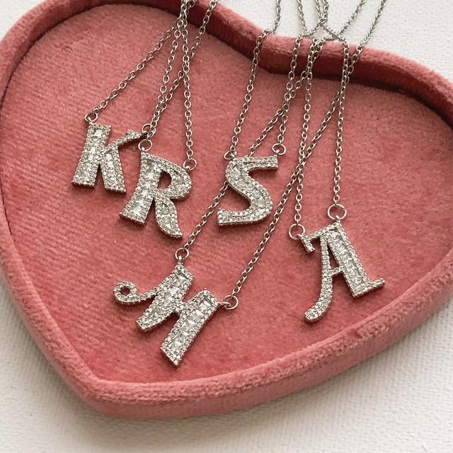Kira Kira Initial Necklace